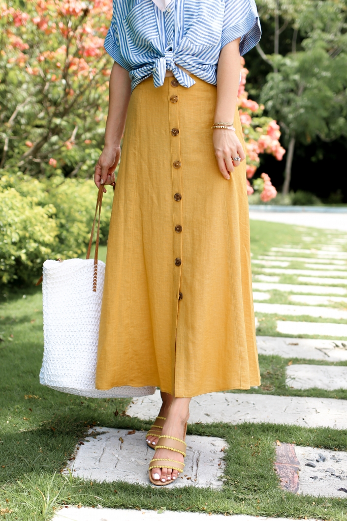 Simply Sutter - vacation style - yellow button skirt - Panama