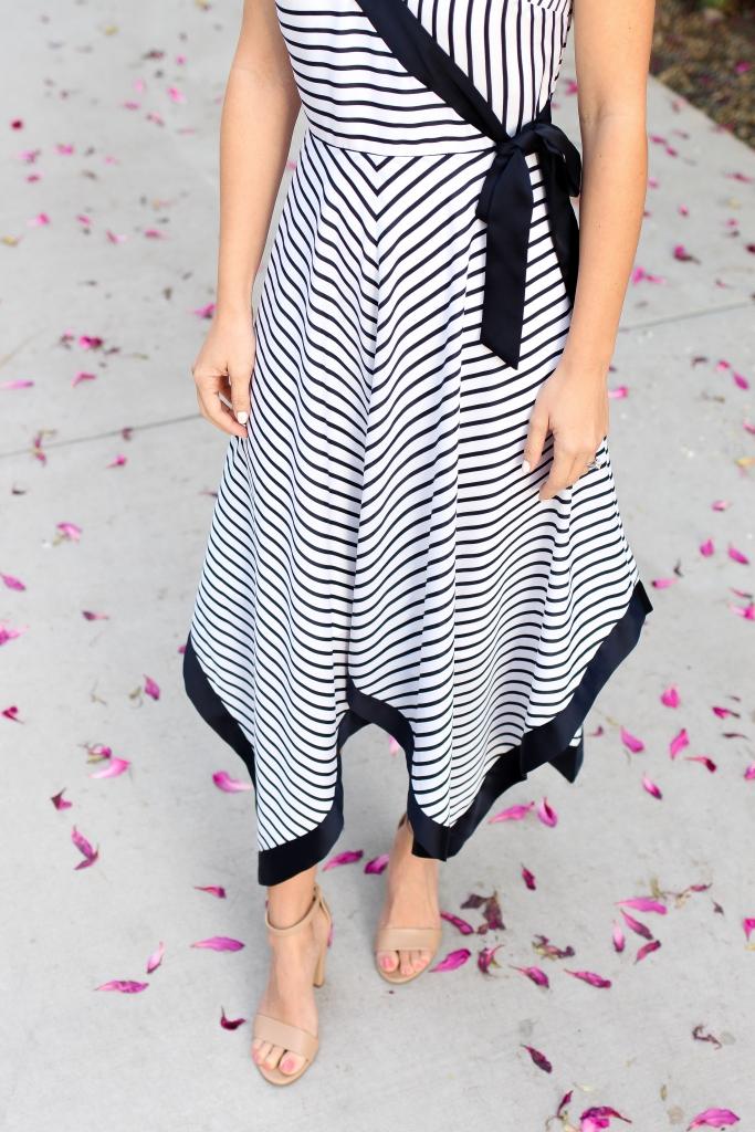 Simply Sutter - Stripe Dress - Banana Republic - Wedding guest dress - handkerchief dress
