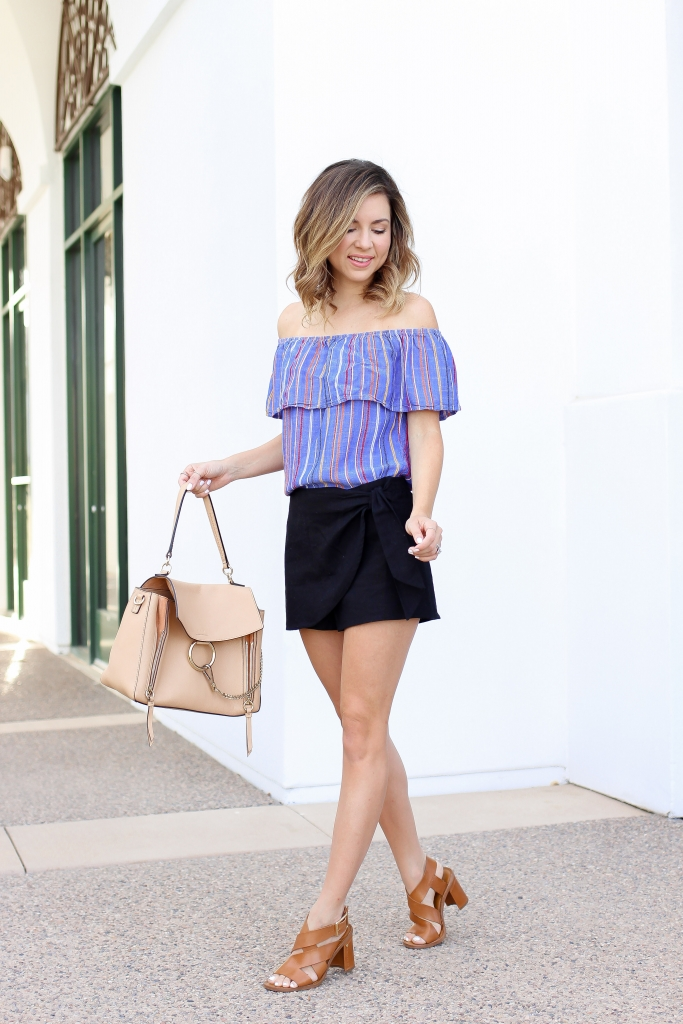 Simply Sutter - OTS - Skort - summer outfits - black skirt