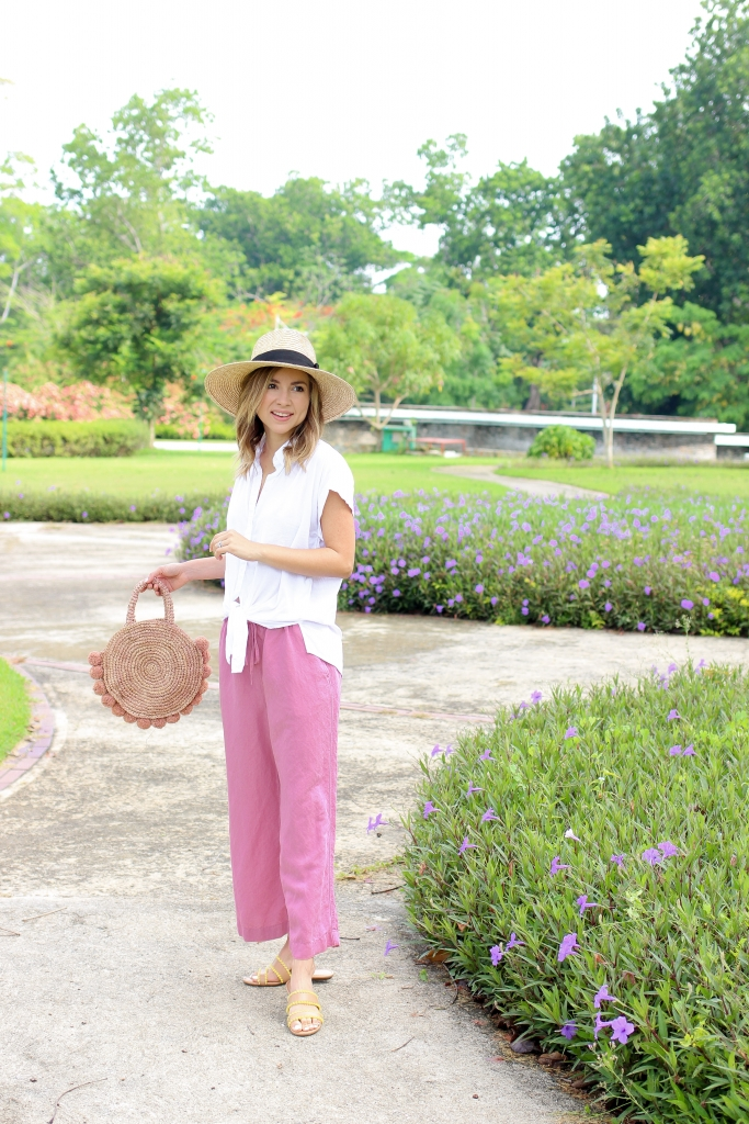 Simply Sutter - Linen pants - pink pants - casual outfit - travel outfit