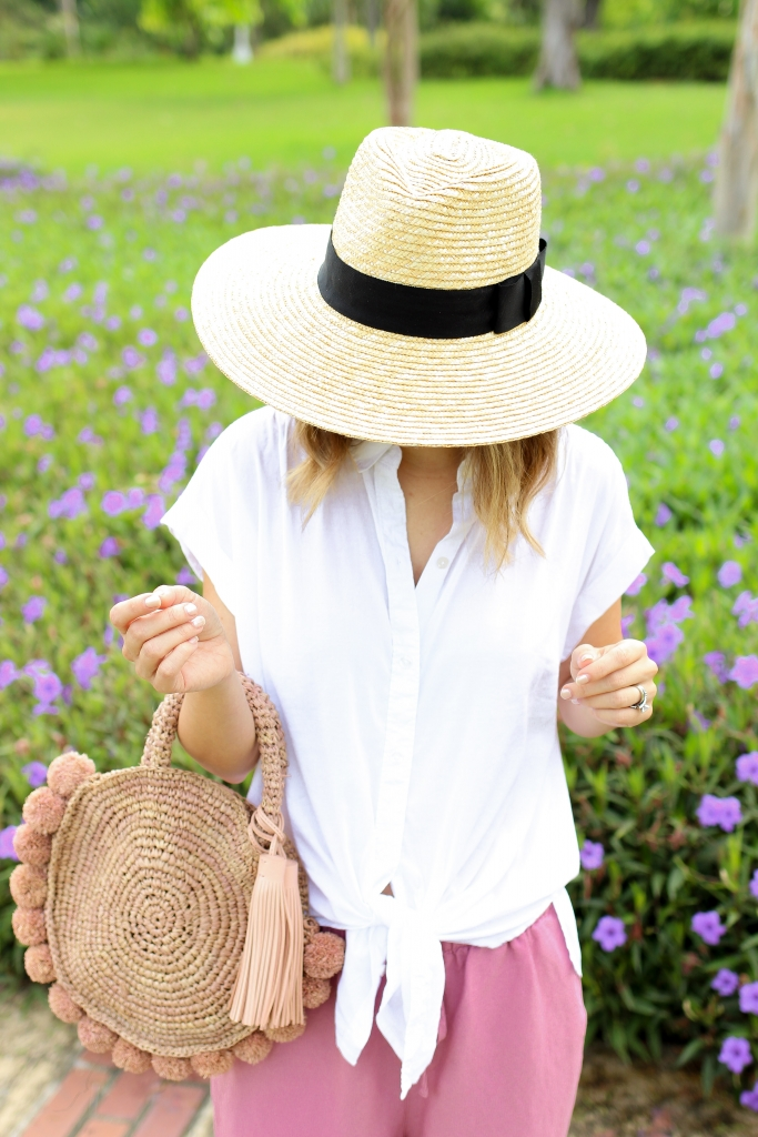 Simply Sutter - Linen pants - pink pants - casual outfit - straw hat