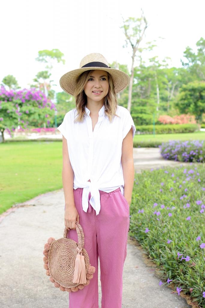 Simply Sutter - Linen pants - pink linen pants - linen pants outfit - pink pants
