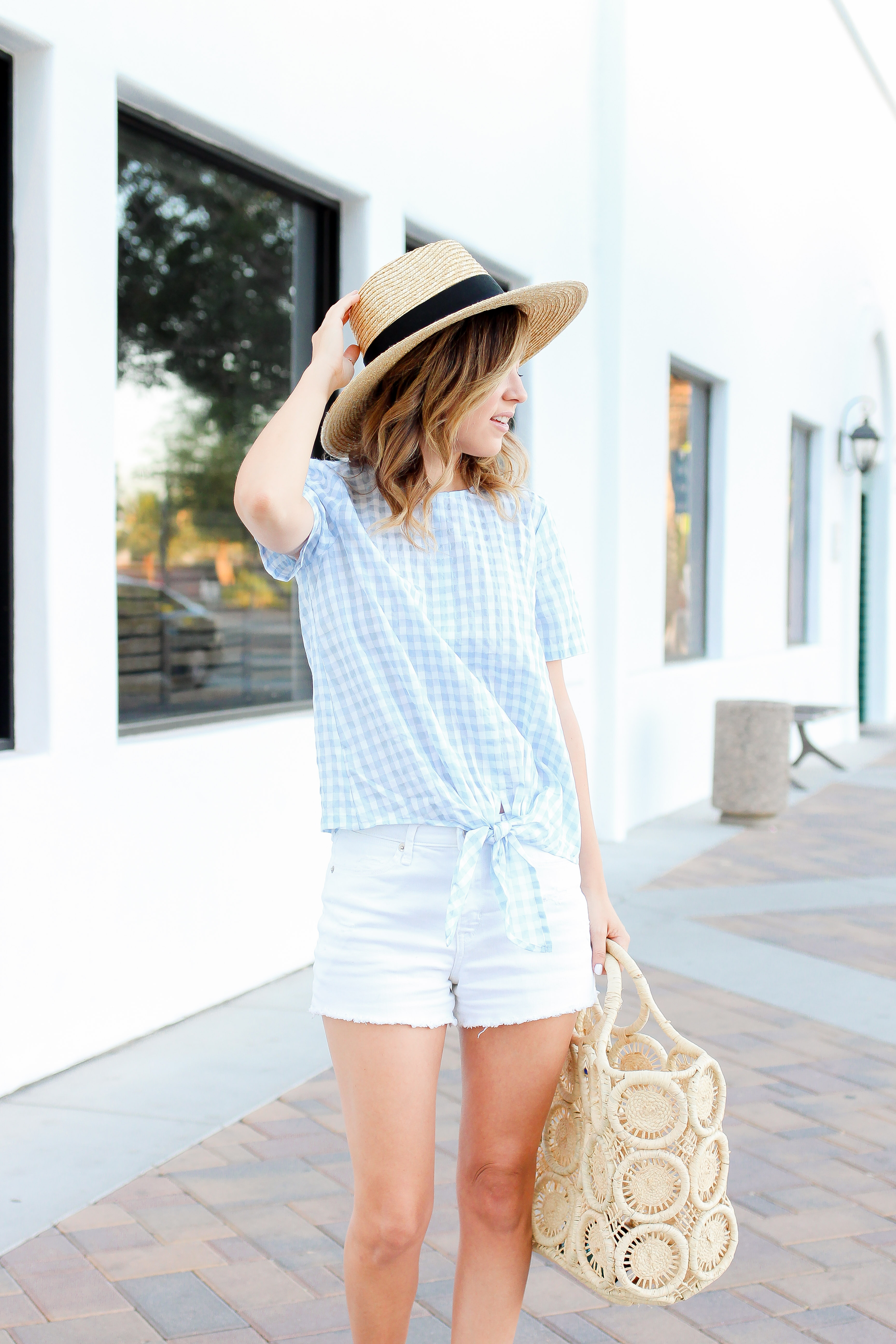 Simply Sutter - Summer outfit - gingham - madewell