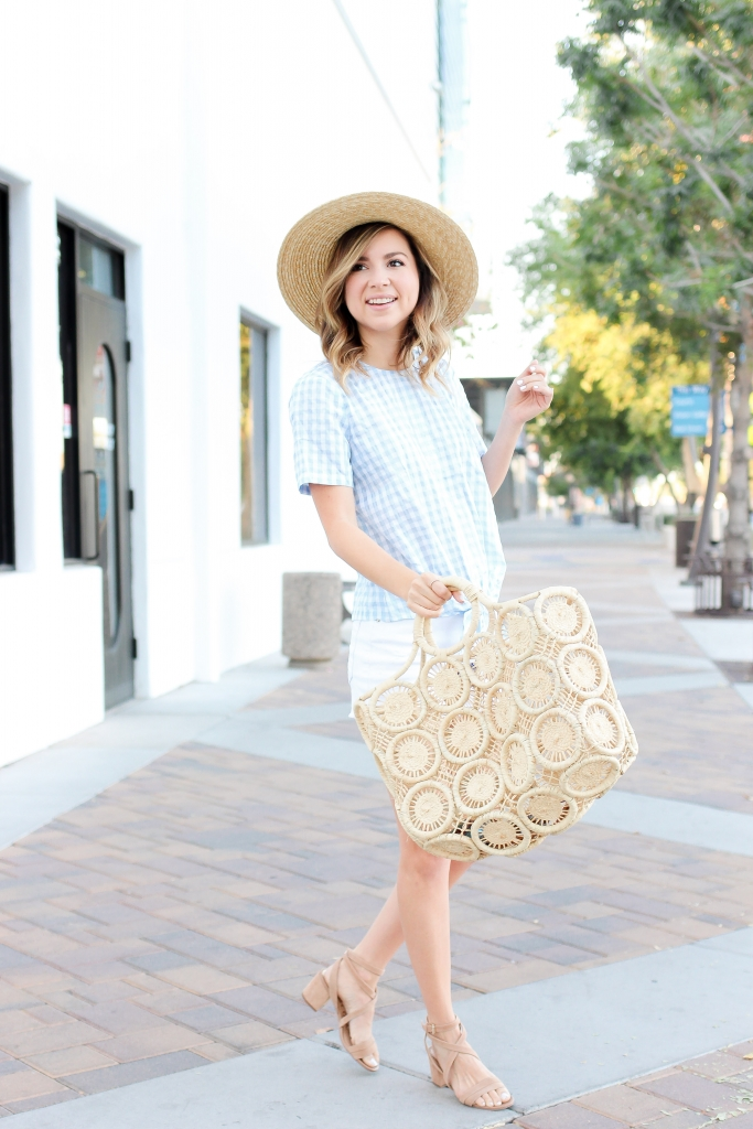 2b23f06b6c2f ... Simply Sutter - Summer outfits - Gingham top - straw hat