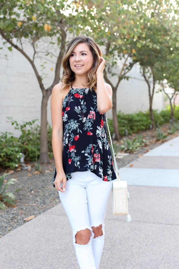 Simply Sutter - High low tank - floral tank - nordstrom - summer outfit