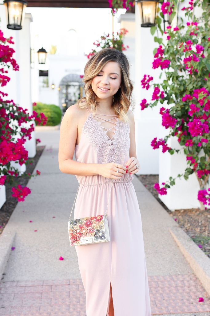 Simply sutter - pink maxi - maxi dress - date night - wedding guest