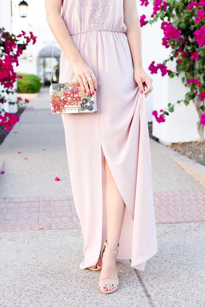 Simply Sutter - Maxi Dress - wedding guest outfit - pink dress