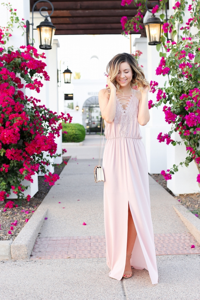 Simply Sutter - pink maxi dress - maxi dress - date night - pink dress - best date night looks