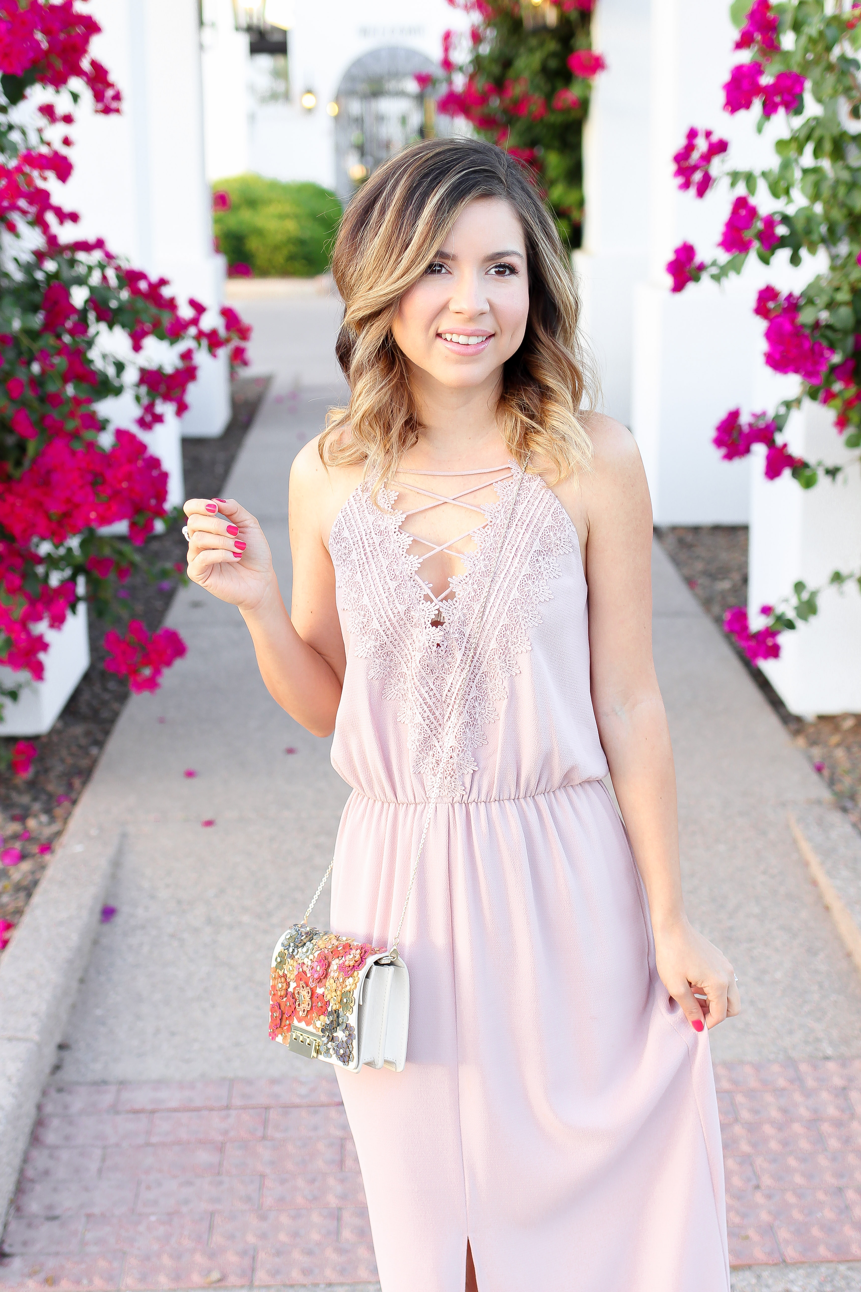 Simply sutter - pink maxi - maxi dress - date night - wedding guest