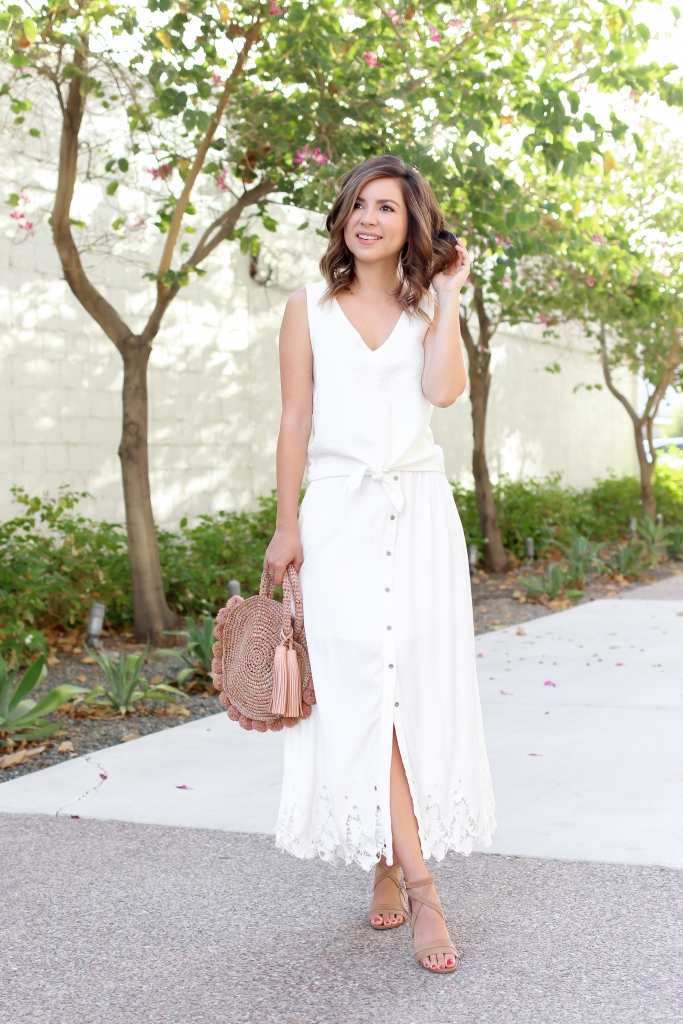 Simply Sutter - All White Outfit - Madwell top - best summer outfits - white maxi skirt