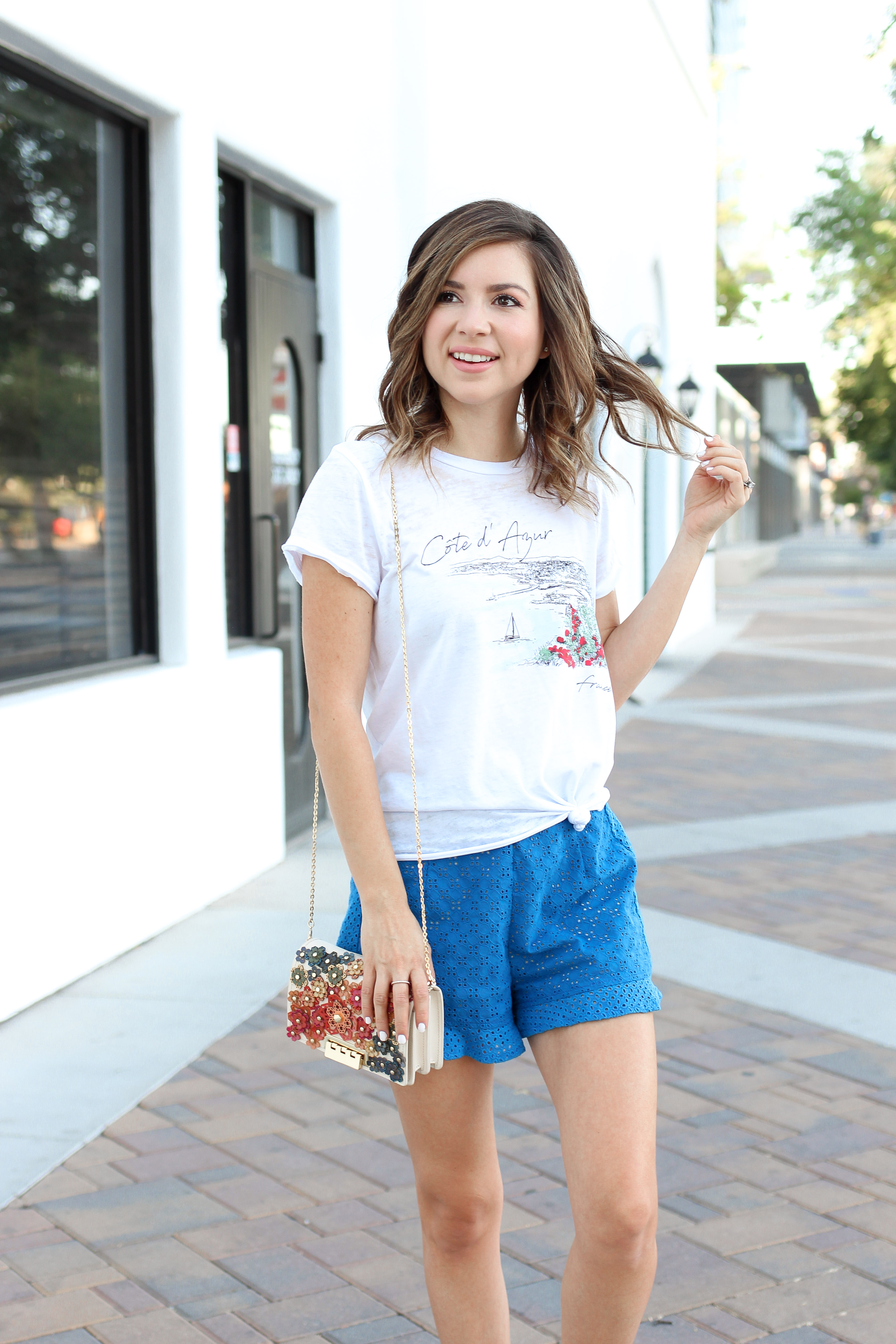 Simply Sutter Summer Style Ruffle Shorts Tee Shirt Outfit 5732