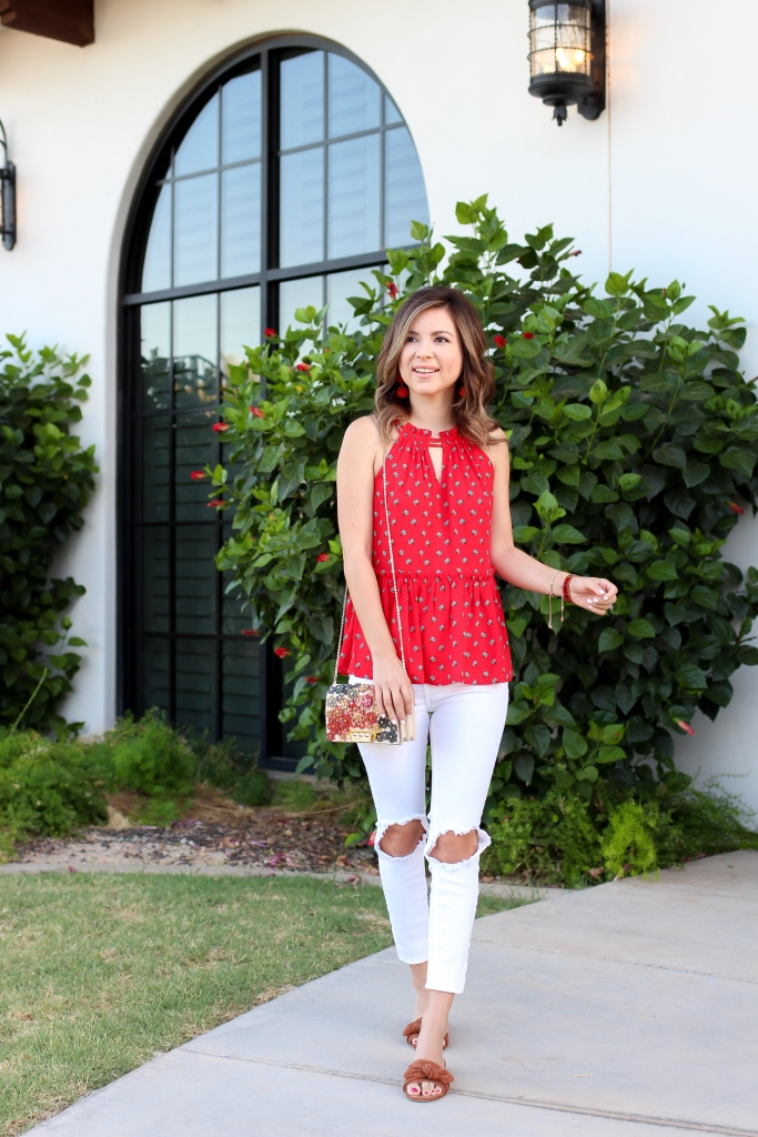 Simply Sutter - Summer Style - halter cami - loft outfit - white jeans