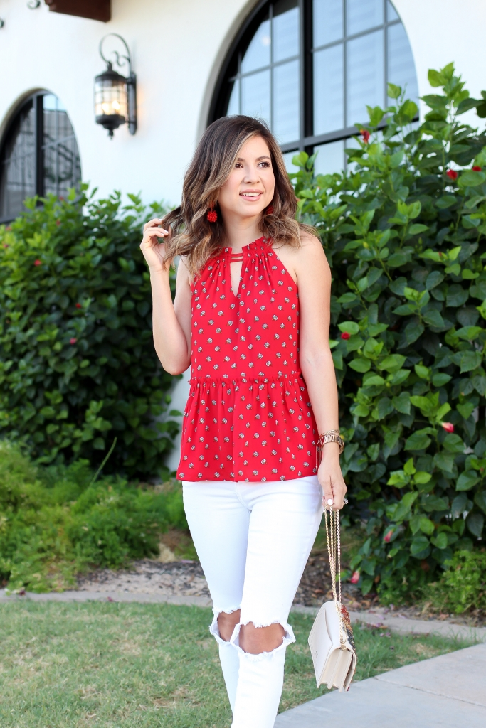 Simply Sutter - Halter Cami - Summer outfit - White jeans outfit