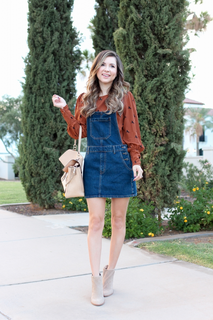 Simply Sutter - Fall Overalls - Overalls - Best Fall Outfit - fall style - autumn style - denim overalls - forever 21