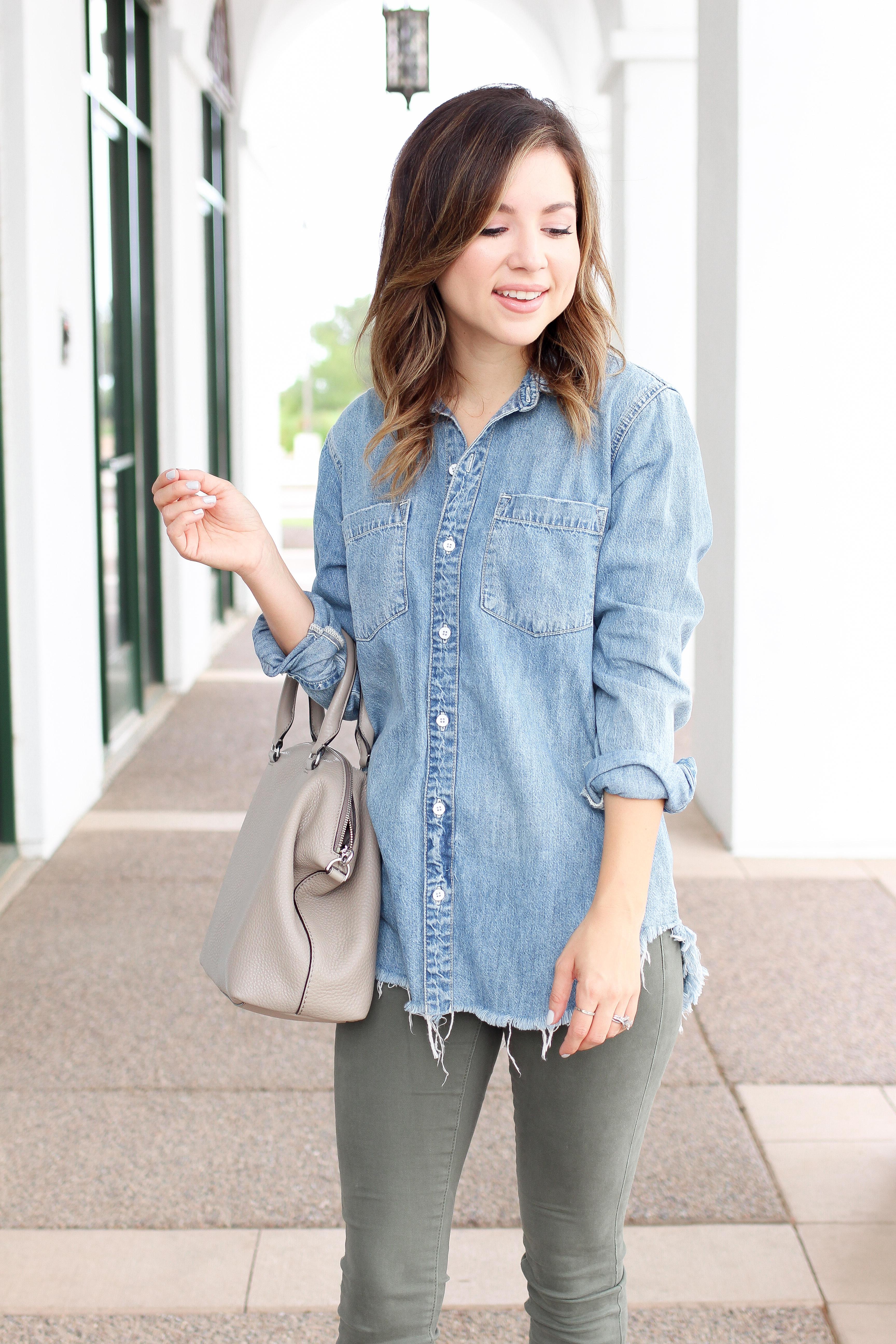 Simply Sutter - denim shirt - best fall outfits - 5 denim shirts - denim shirt outfit