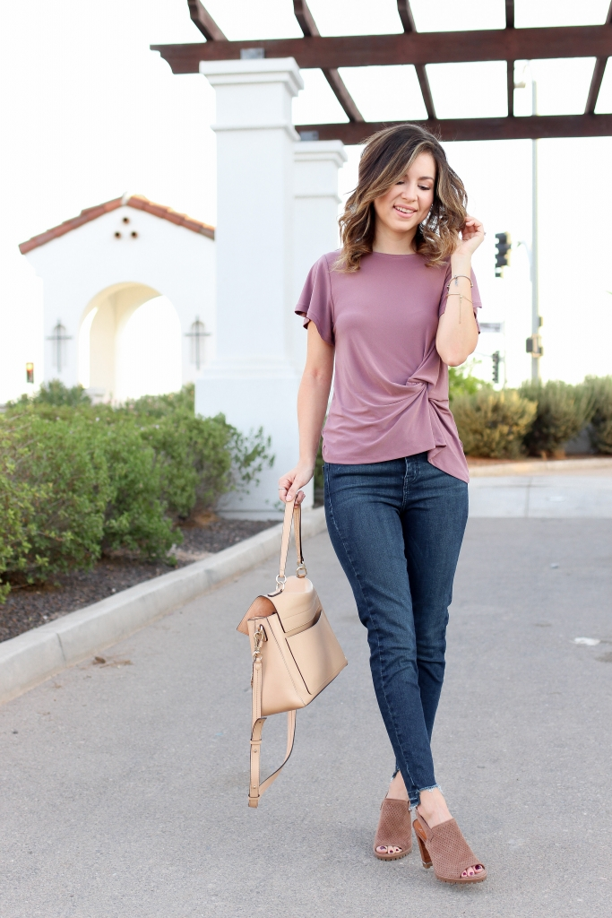 Simply Sutter - Mauve - knot top - Fall style