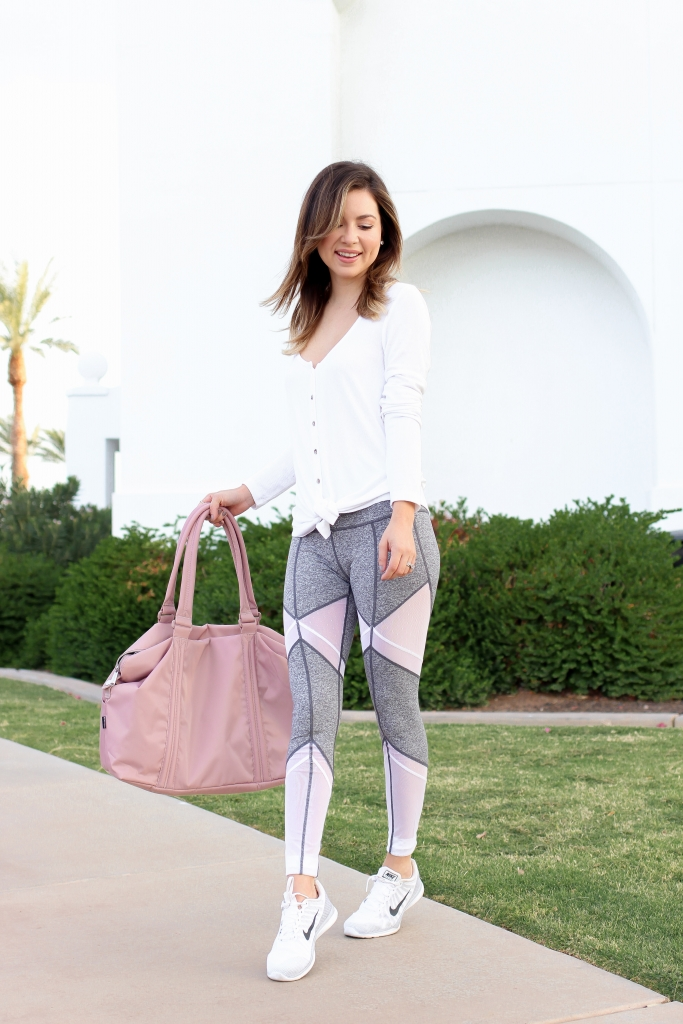 simply sutter - workout look - legging brands - petite athletic wear