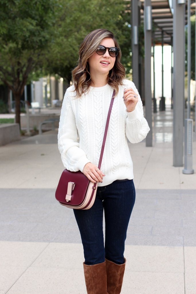 Fall Outfit - Casual fall outfits - chunky sweater - fall in arizona - banana republic