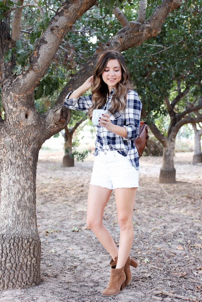 simply sutter - lifestyle blogger - HYDY - flannel shirt and shorts