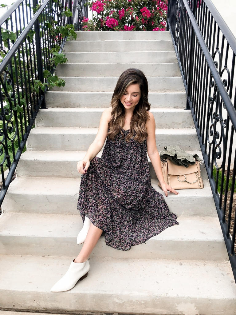 Simply Sutter - How to style dress - white boots - midi dress