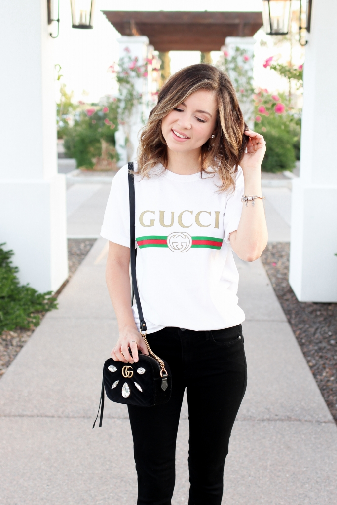 Simply Sutter - simply sutter - gucci top - oversized tee - gucci bag - leopard heels