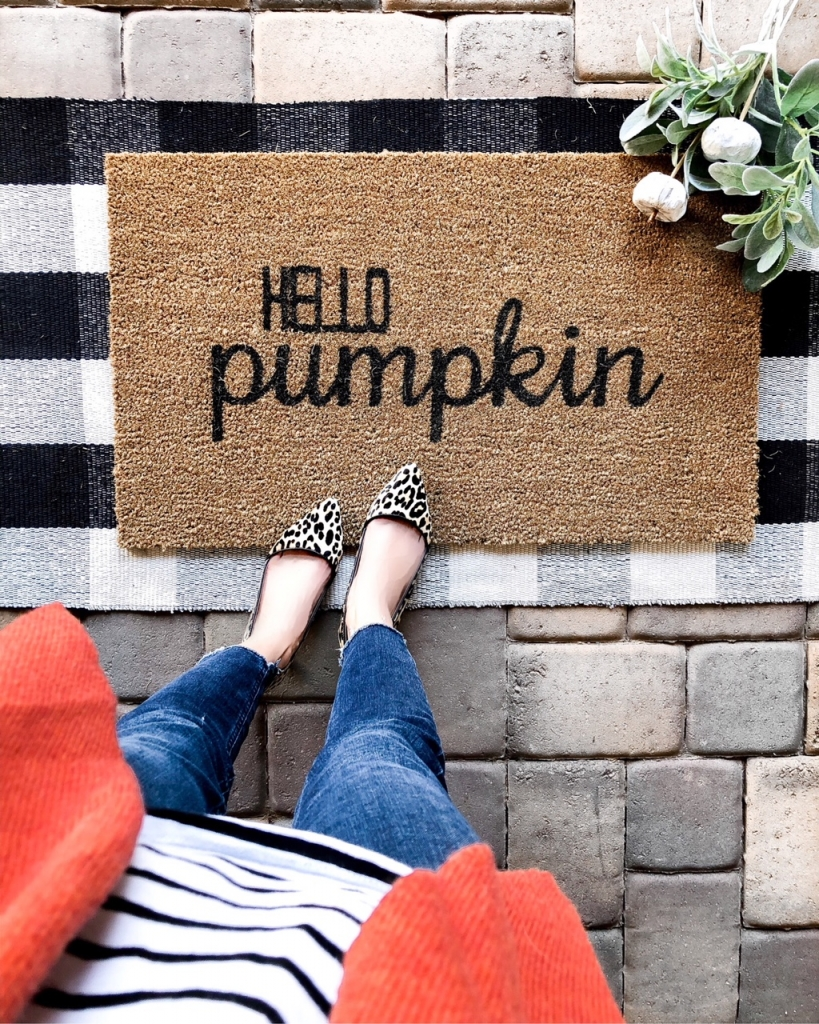Fall home decor - fall doormat - fall decor - affordable fall decor