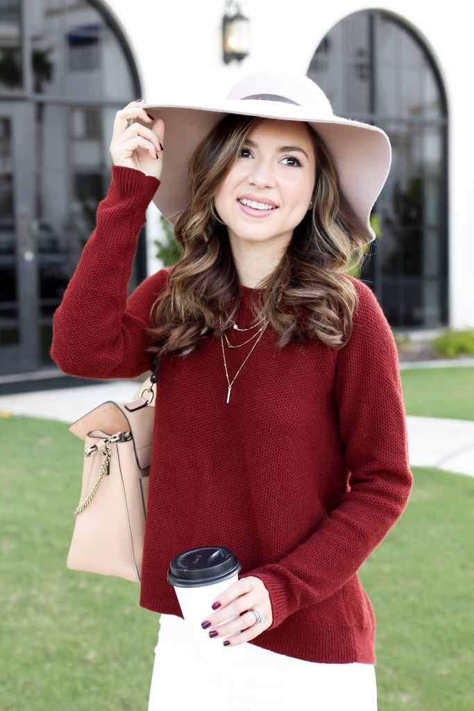 fall sweater - cross back sweater - how to wear a sweater for fall - casual sweater outfits