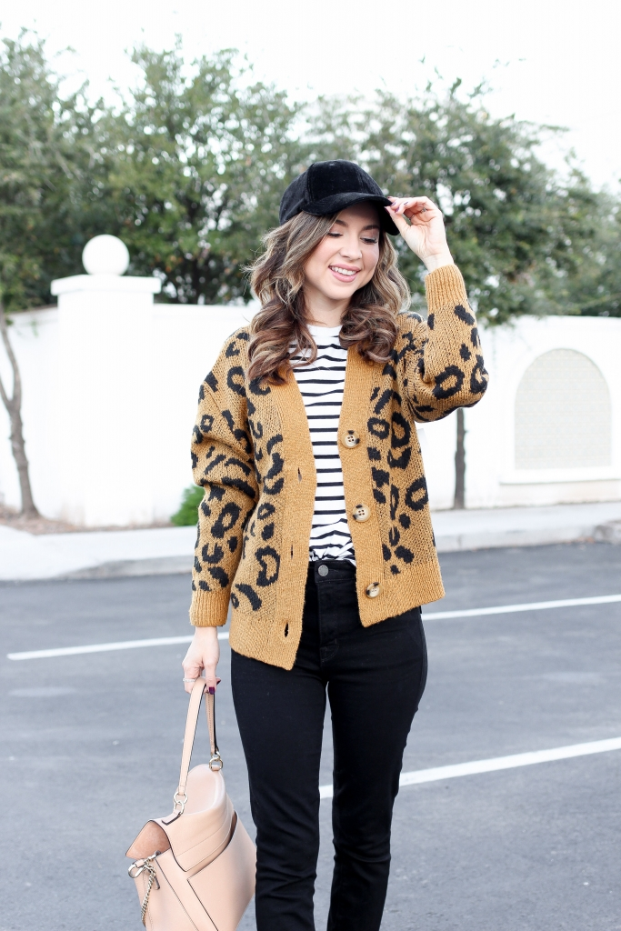 how to wear leopard - best leopard outfits - casual chic outfit - leopard cardigan