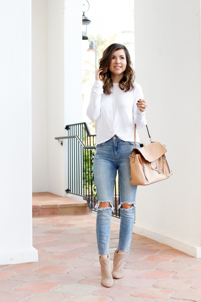 6 knot front tops - Best casual fall outfits - simply sutter - fall jean outfits