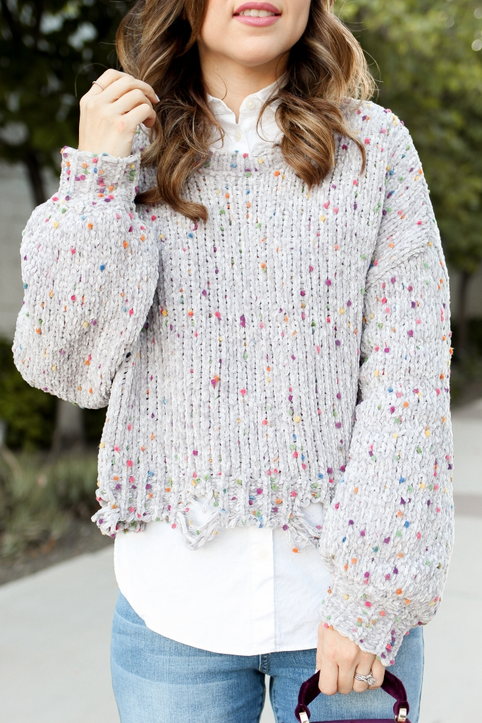 layer a sweater - chic sweater outfit - cropped sweater outfit - simply sutter