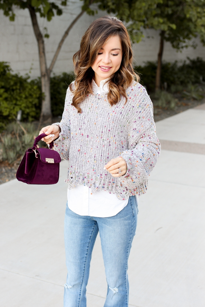 how to wear a crop sweater - simply sutter - flare jeans outfit - simply sutter