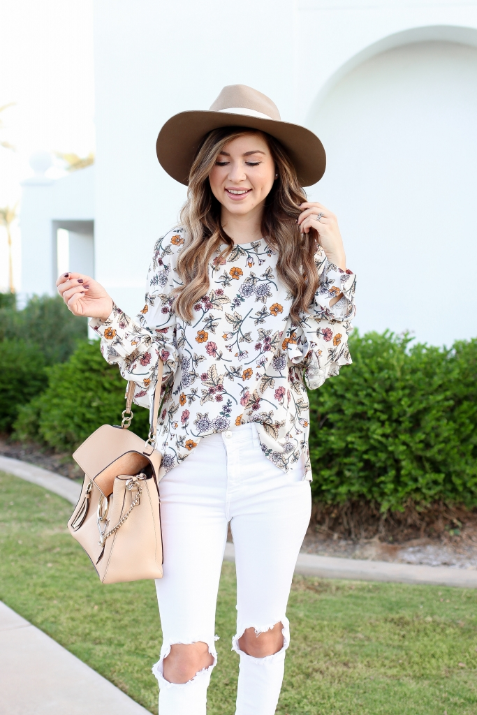 petite blogger shares 6 ruffle tops uner $75 + her winter bucket list