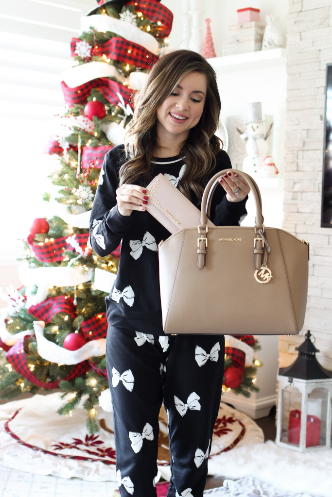 fashion blogger sharing holiday gift times from Michael Kors
