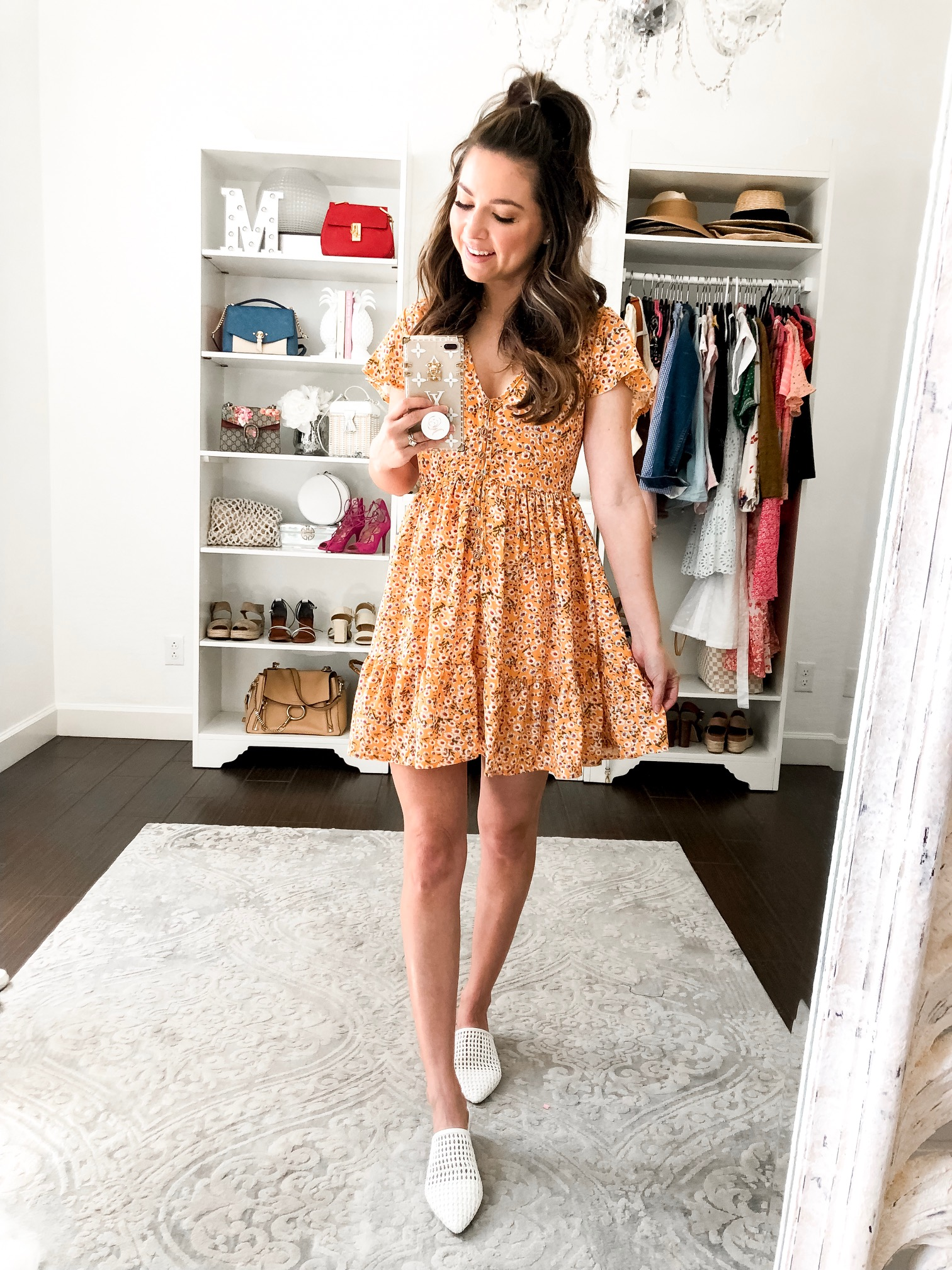 spring outfit yellow sundress