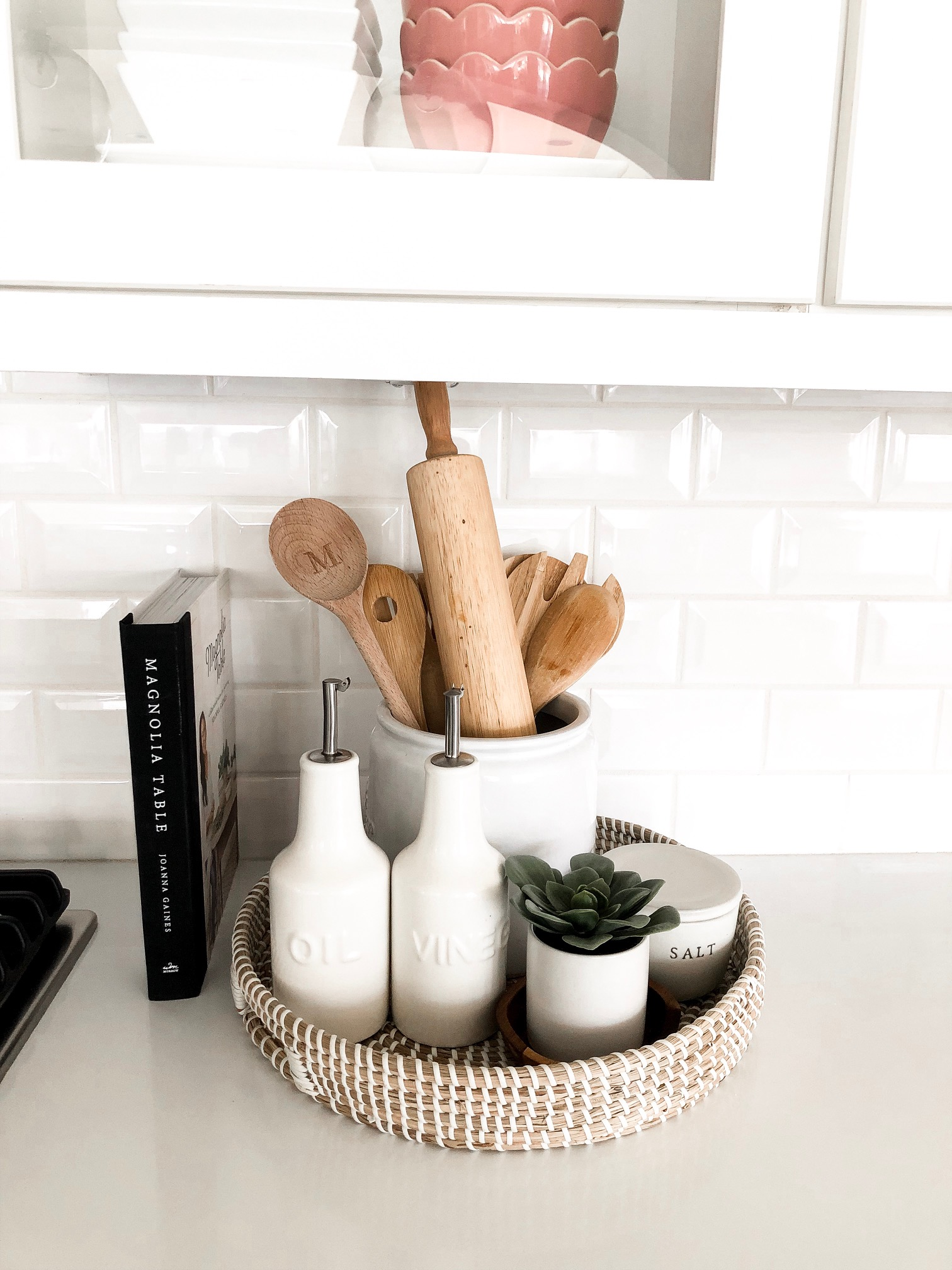 wicker kitchen tray style